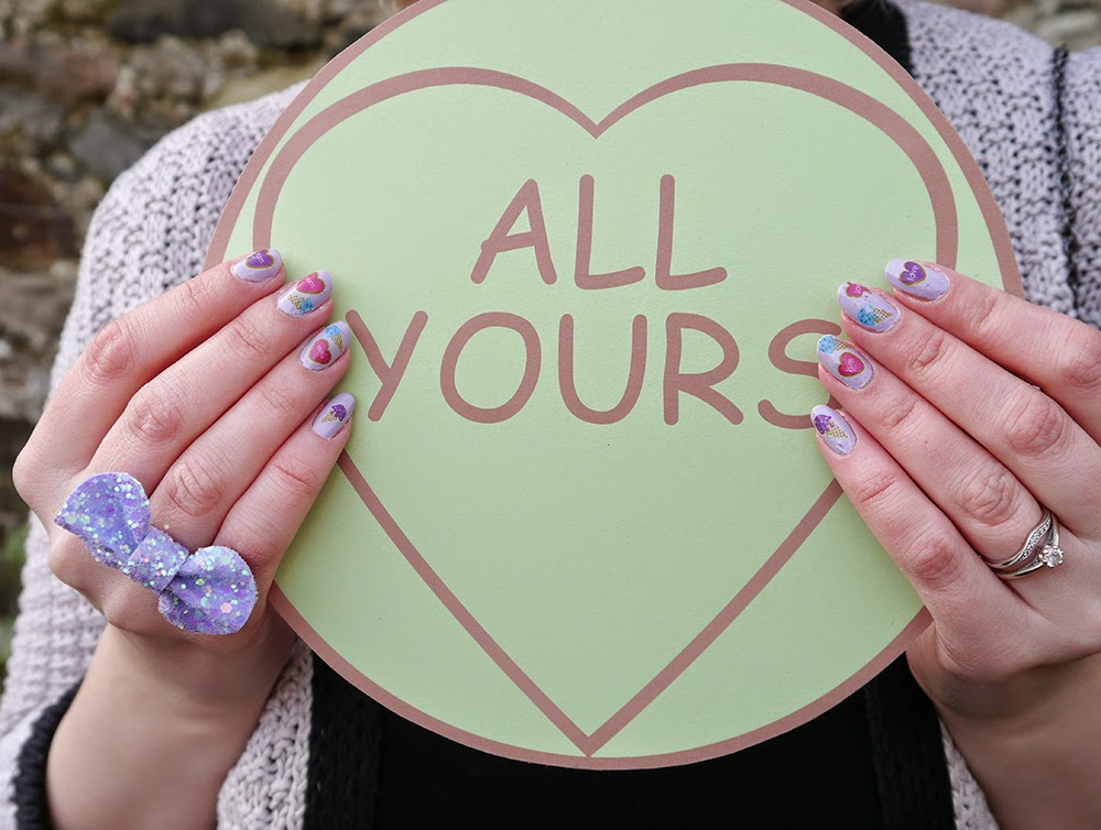 how to, valentine, DIY, hat, love heart, galentine, forever  yours, all yours, Alternate Normality, nailcals, decals, engagement, wedding ideas, romantic, candy
