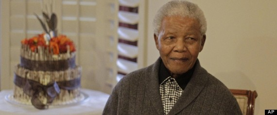 Nelson Mandela and his granddaughter Rochelle Mtarara at ...
