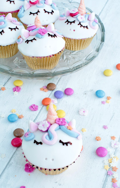 easy to make unicorn cupcakes