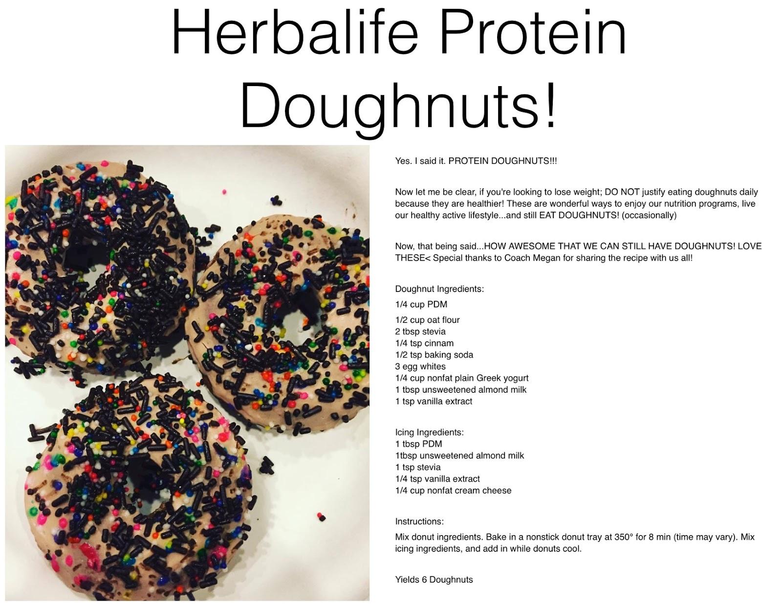 Healthy Recipes Herbalife Protein Doughnuts