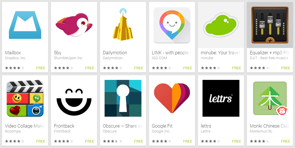 "Google Outs ""Best Apps of 2014"" List"