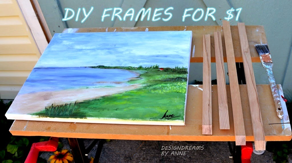 DesignDreams by Anne: $1 DIY Chunky Wood Picture Frames