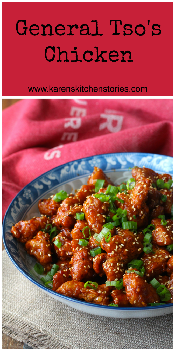 This General Tso's Chicken is reminiscent of New York City Chinese take out from the 20th century. It's sweet, spicy, and crispy. It's completely delicious too.