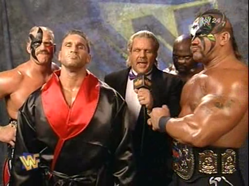 WWF / WWE - Survivor Series 1997 - Ken Shamrock teamed Ahmed Johnson and the L.O.D to face the Nation of Domination