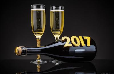 feliz año nuevo 2017 champagne