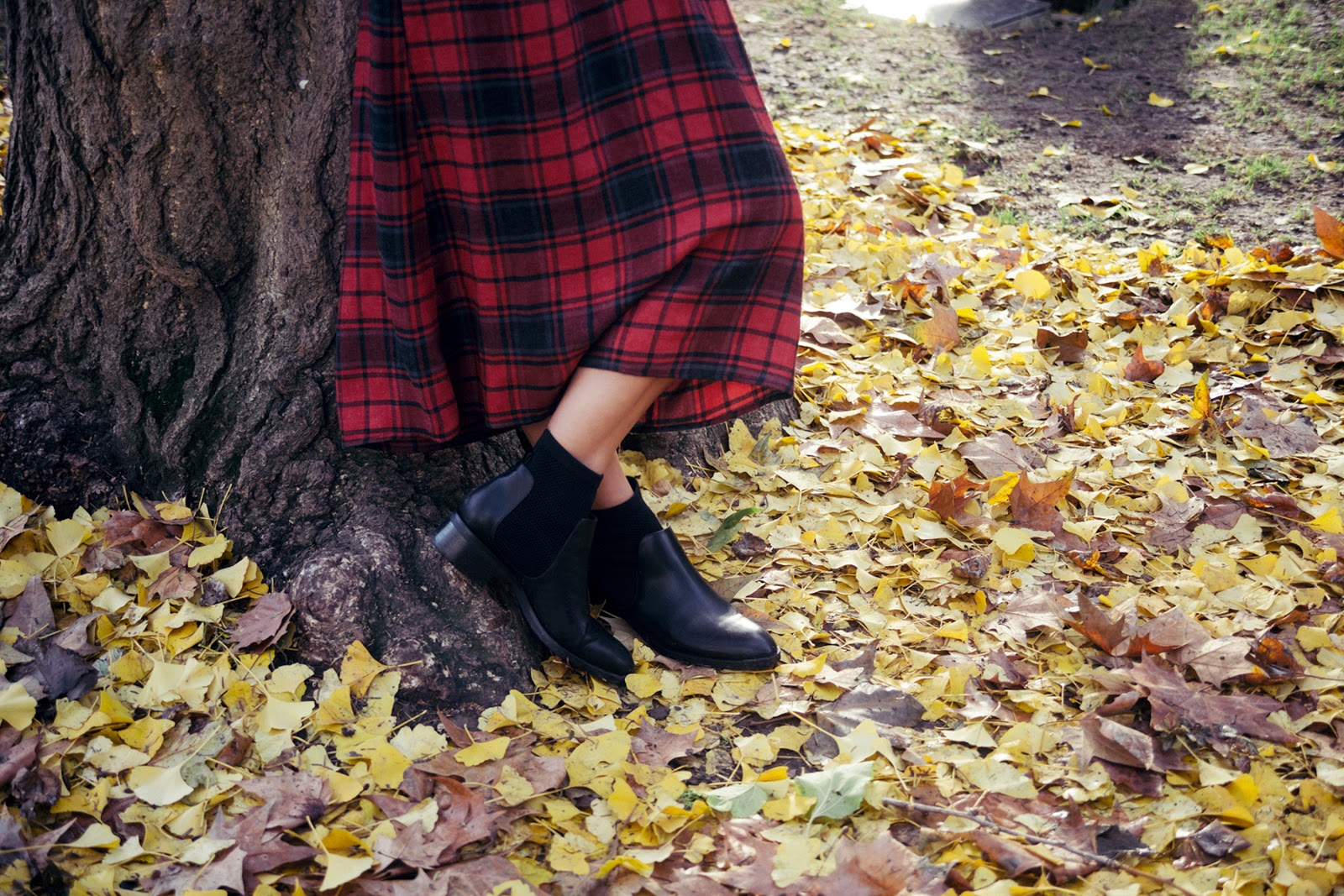 Euriental | luxury travel & style | Zara gingham dress and sock boots