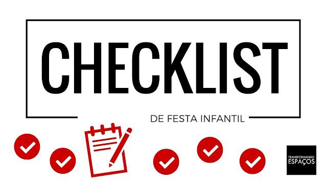 Checklist Festa Infantil