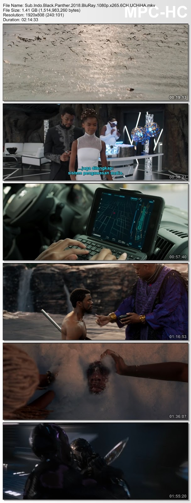 Screenshots Sub.Indo.Black.Panther.2018.BluRay.1080p.x265.6CH.UCHiHA.mkv