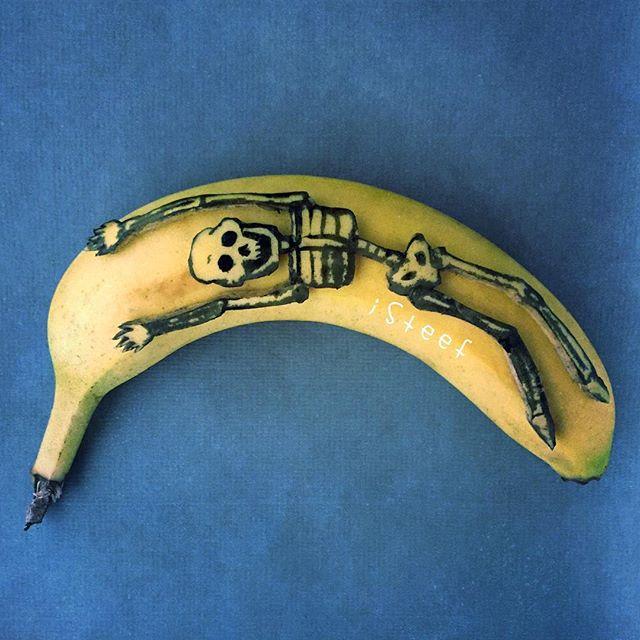 lukisan media pisang paling kreatif unik lucu dan menakjubkan-18