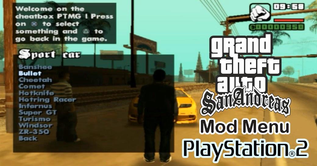 GTA San Andreas PS2 Mod Cleo [Mod Menu] + Cheat - INSIDE GAME