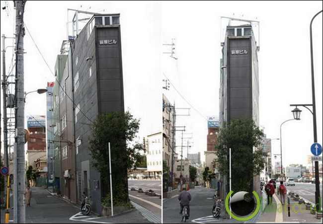 Gedung Tipis di NARA, Jepang