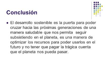 Conclusión desarrollo sostenible