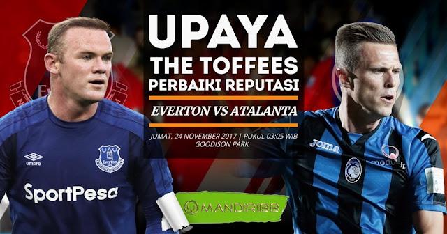 Everton akan melakoni pertandingan sangkar terakhir di Europa League ketika kedatangan tamu Berita Terhangat Prediksi Bola : Everton Vs Atalanta , Jumat 24 November 2017 Pukul 03.05 WIB