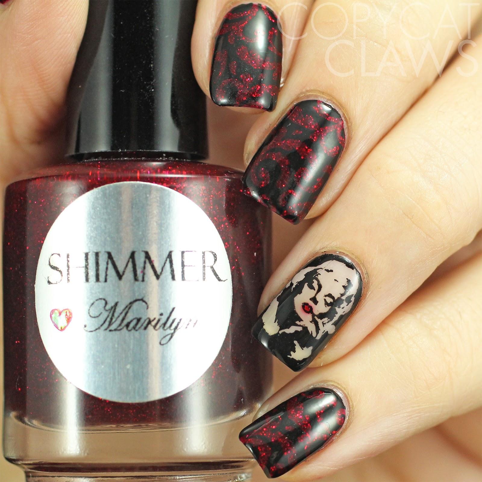 Copycat Claws: The Digit-al Dozen does Vampy: Marilyn Monroe Nail Art