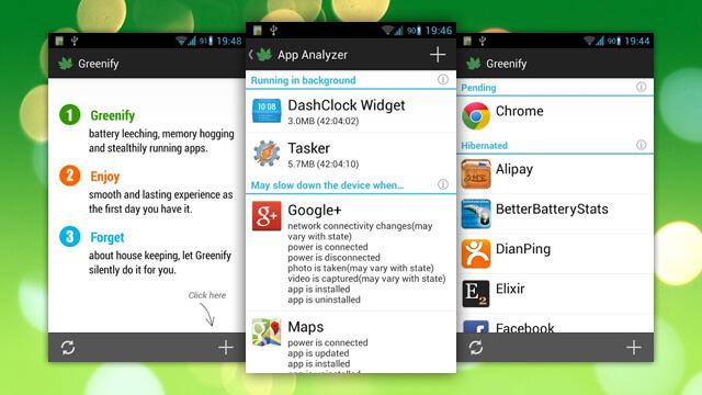 تطبيق Greenify ، تطبيقات لتحسين أداء أجهزة أندرويد ، تحسين أداء أجهزة أندرويد ، بطىء أندرويد ، تشنج أندرويد ، حل مشكلة البطىء في أندرويد ، تطبيقات أندرويد مفيدة