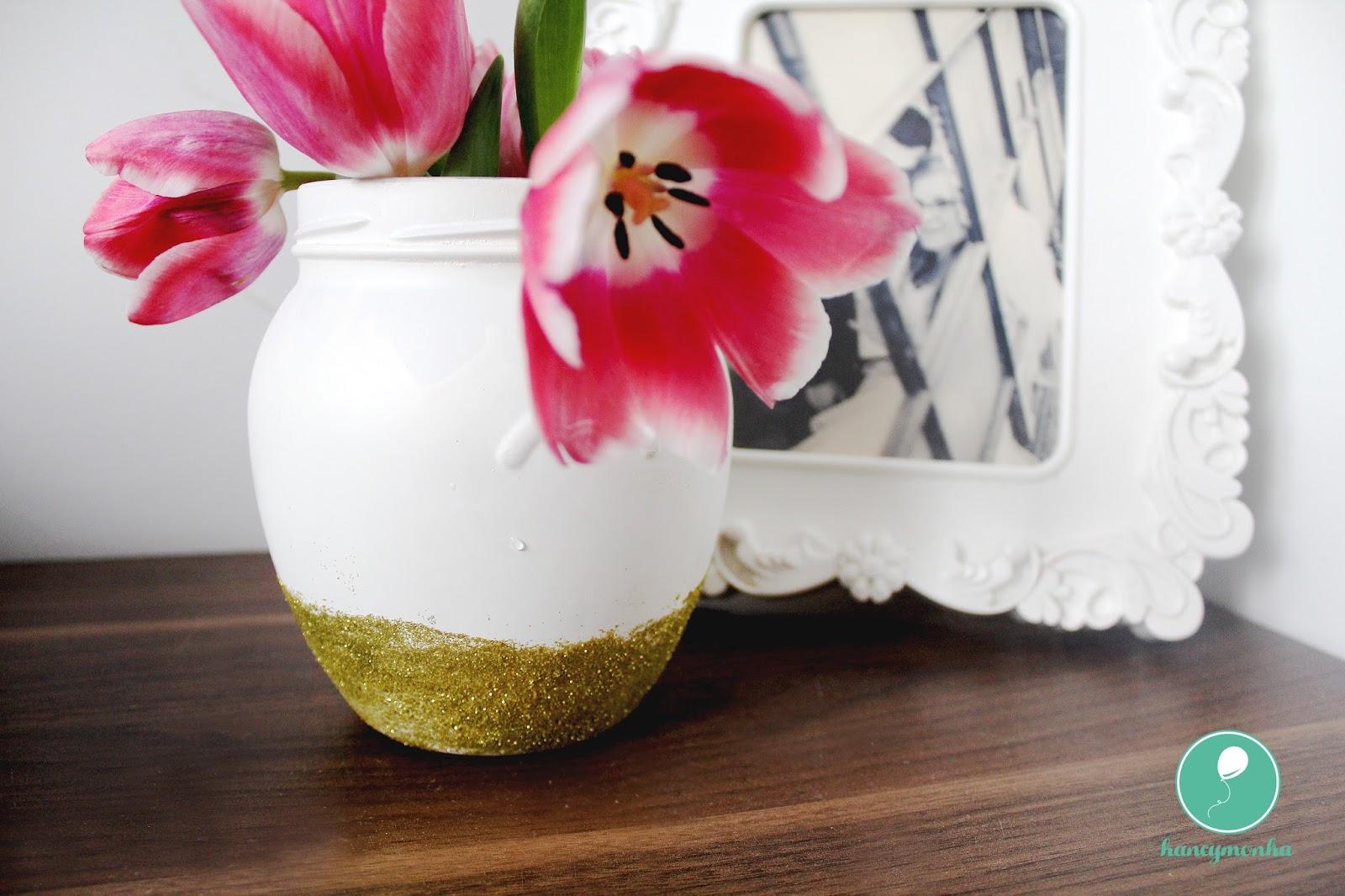 diy wazon ze słoika, more than jar, słoikowy wazon, zrób to sam, instrukcja, hancymonka