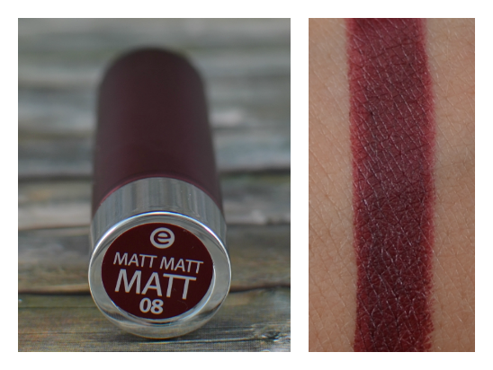 Essence matt matt matt lipstick 08 it's a statement Swatch