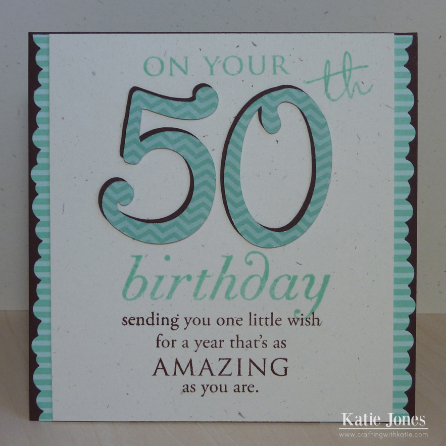 50th Birthday Cards Cricut: Crafting With Katie: 50th Birthday Card