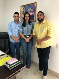 Advogado Fernando e o enfermeiro Fabrício realizam visita de cortesia no gabinete da deputada estadual Daniella Tema