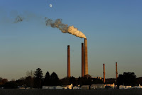 The American Electric Power coal burning plant in Conesville, Ohio, had a scrubber (a filtering system to limit emissions into the air) added to the unit seen emitting smoke in photo. (Credit: Michael Williamson/The Washington Post) Click to Enlarge.