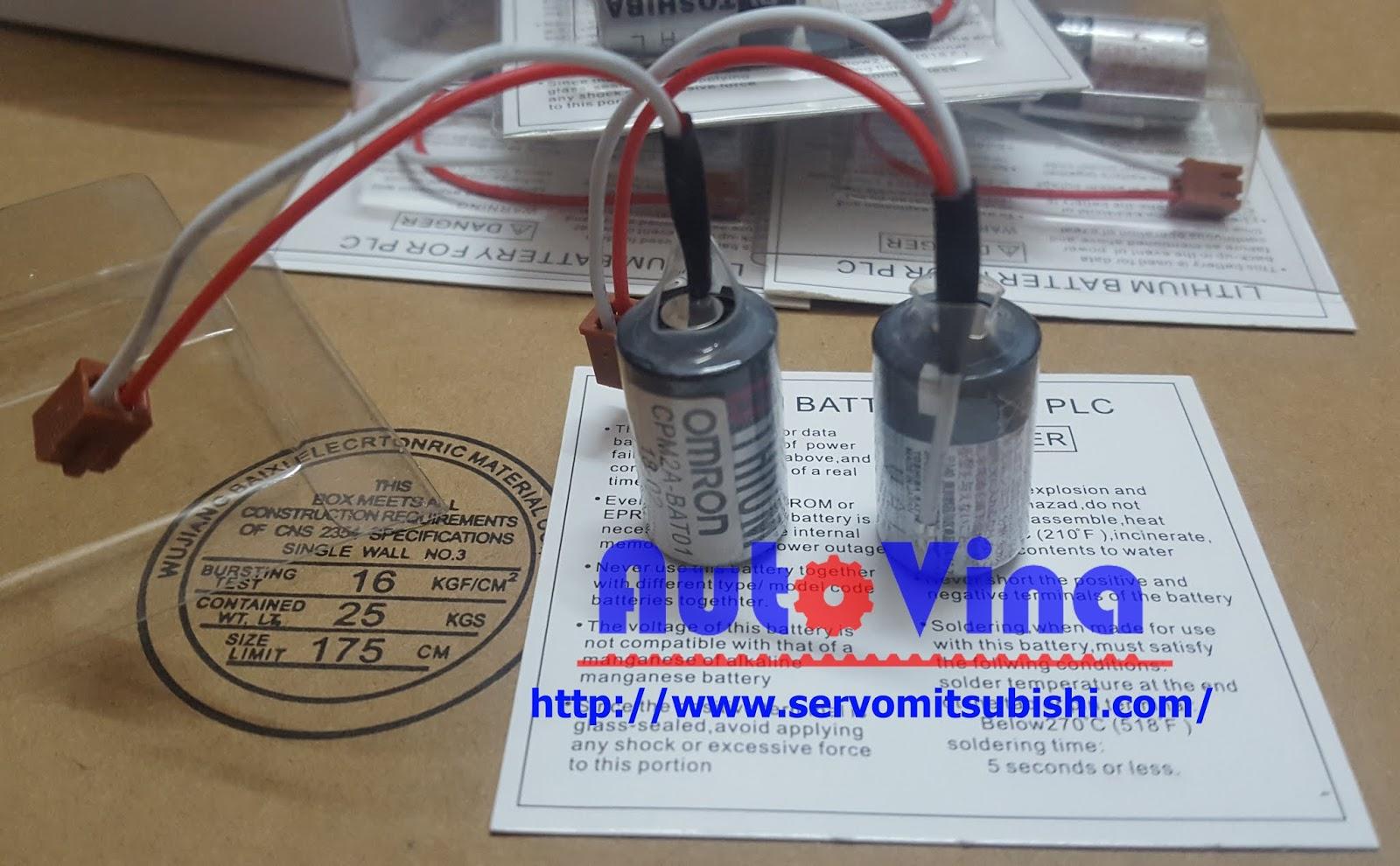 Đại lý bán các loại Pin, Battery CPM2A-BAT01 cho PLC Omron CPM2A tại Việt Nam