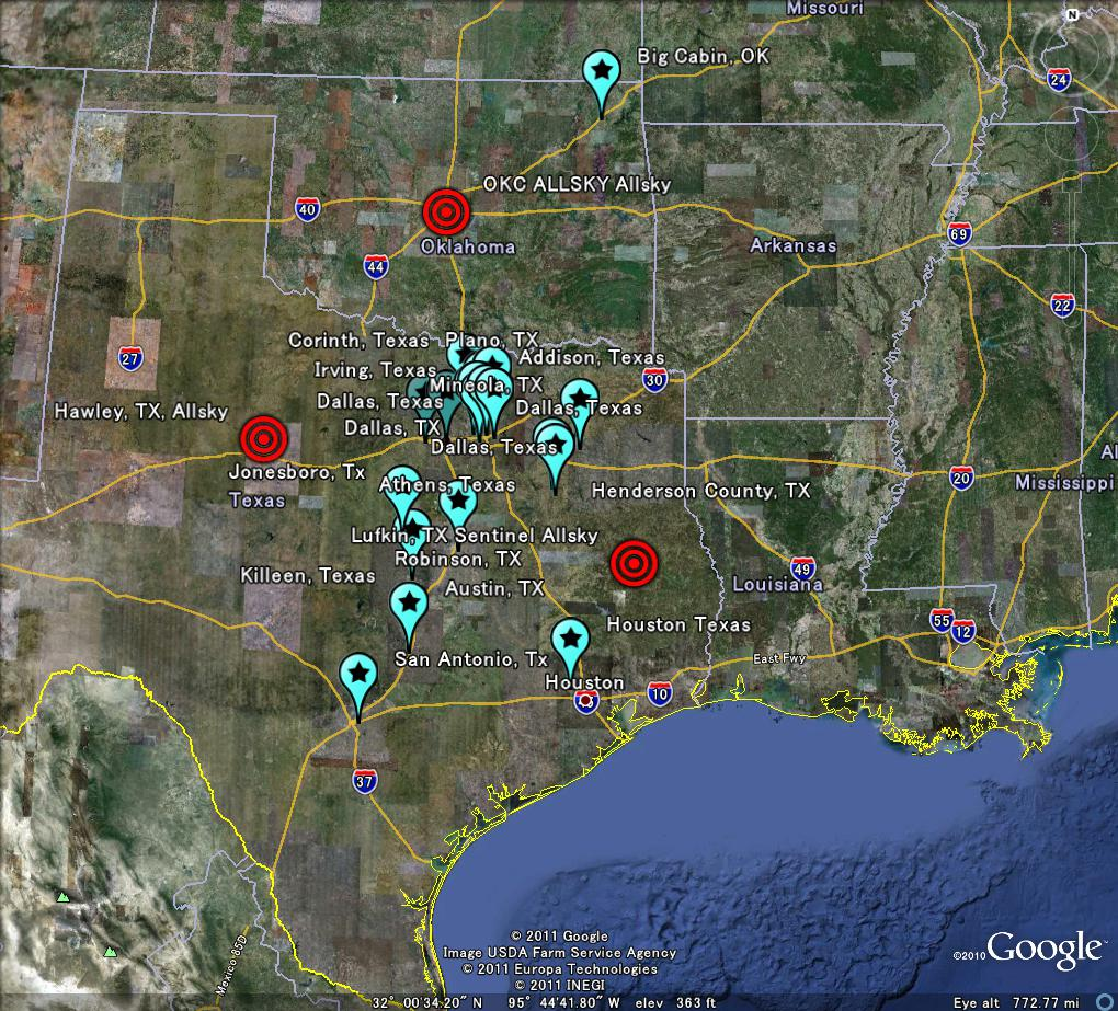 The Latest Worldwide Meteor/Meteorite News: Texas, Oklahoma Blue