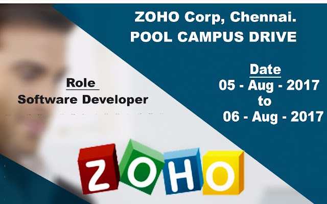 ZOHO CORP CHENNAI Offcampus Drive