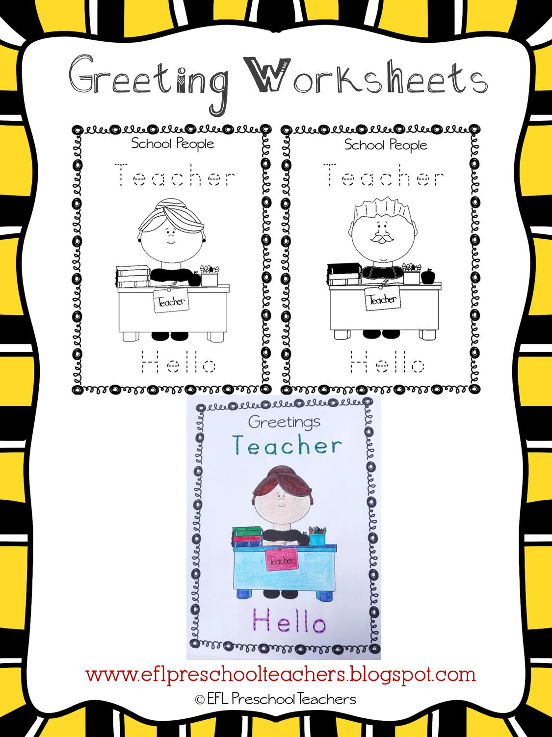 Eslefl Preschool Teachers Greetings Theme Resources For Ell