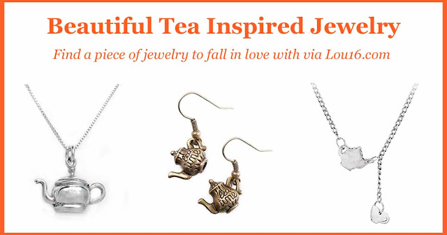 Beautiful tea inspired jewelry - the best gift for a tea lover