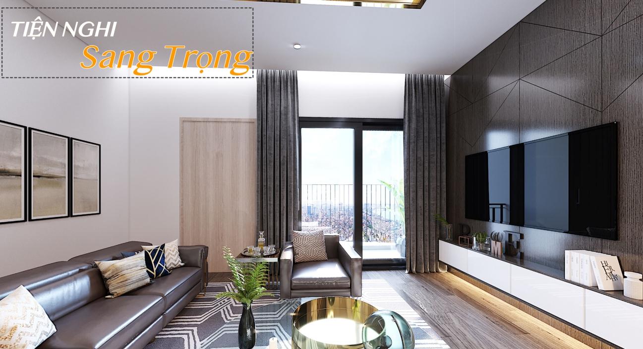 Phòng khách căn hộ cao cấp Amber Riverside