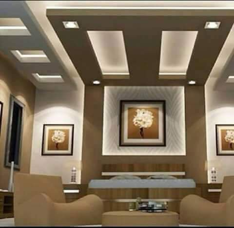 Top 100 Gypsum board false ceiling designs for living room ...