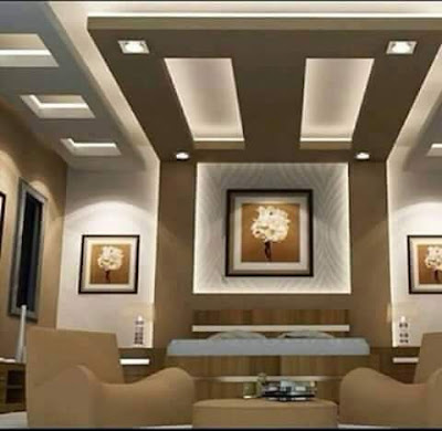 gypsum board false ceiling designs with indirect lighting for living room and hall 2019