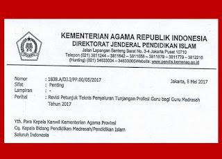 Revisi Petunjuk Teknis Penyaluran TPG bagi Guru Madrasah Tahun 2107