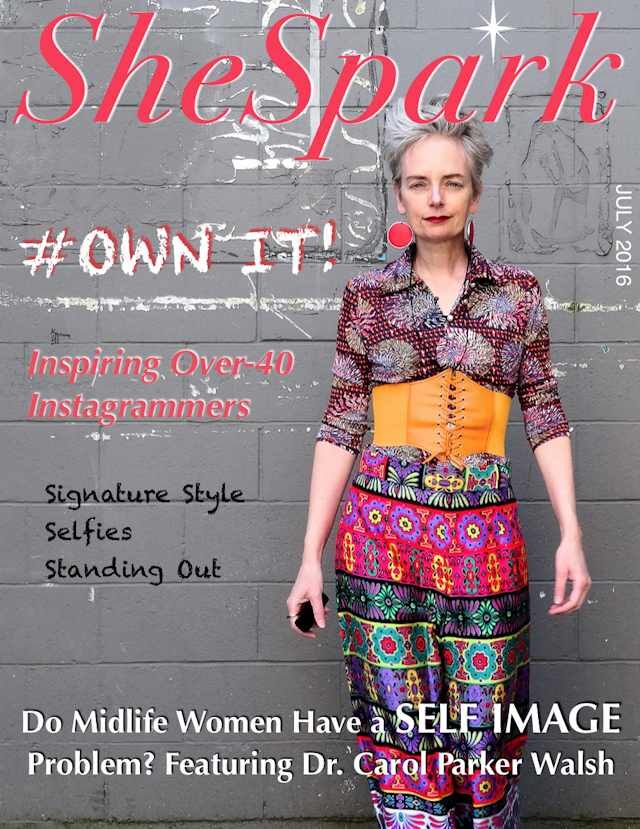 Mel Kobayashi on SheSpark magazine cover, July 2016