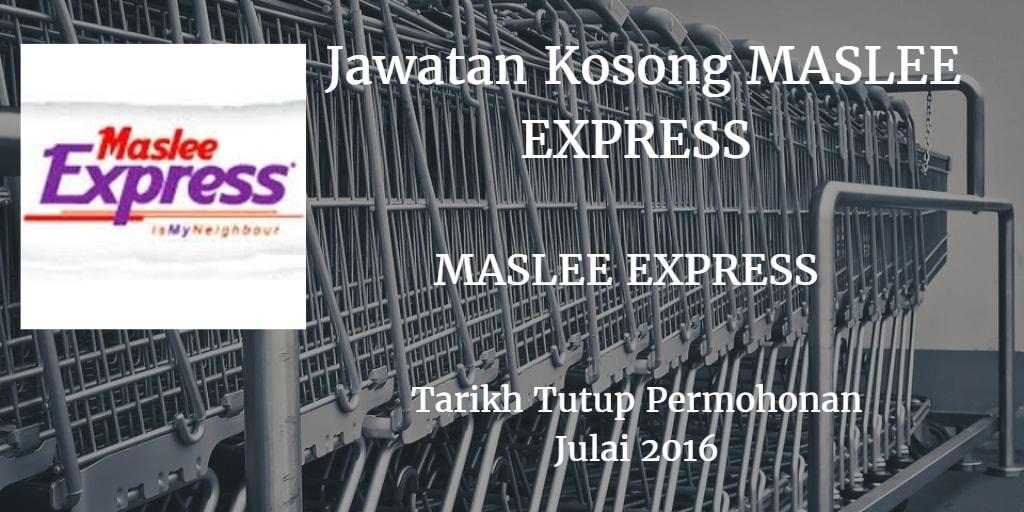 Jawatan Kosong MASLEE EXPRESS Julai 2016