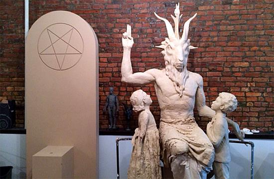Estátua do Diabo em Detroit nos EUA