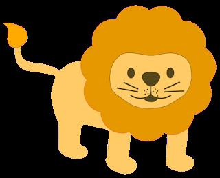 Grafik mit freundlichem Löwen