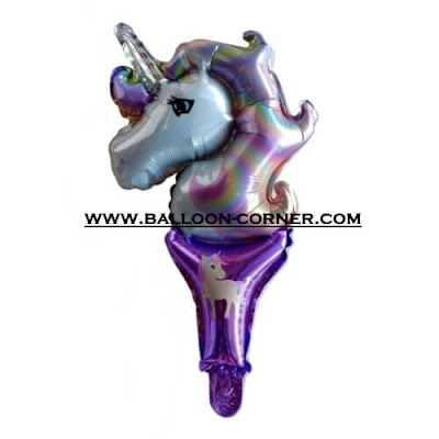 Balon Foil Raket UNICORN