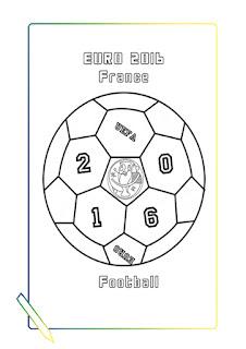 el balon de la eurocopa de Francia 2016 para colorear