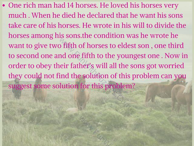Horses Logical Mind Twister