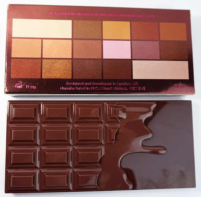Makeup Revolution I ♥ Makeup - I Heart Chocolate Eyeshadow Palette Lidschatten Nude