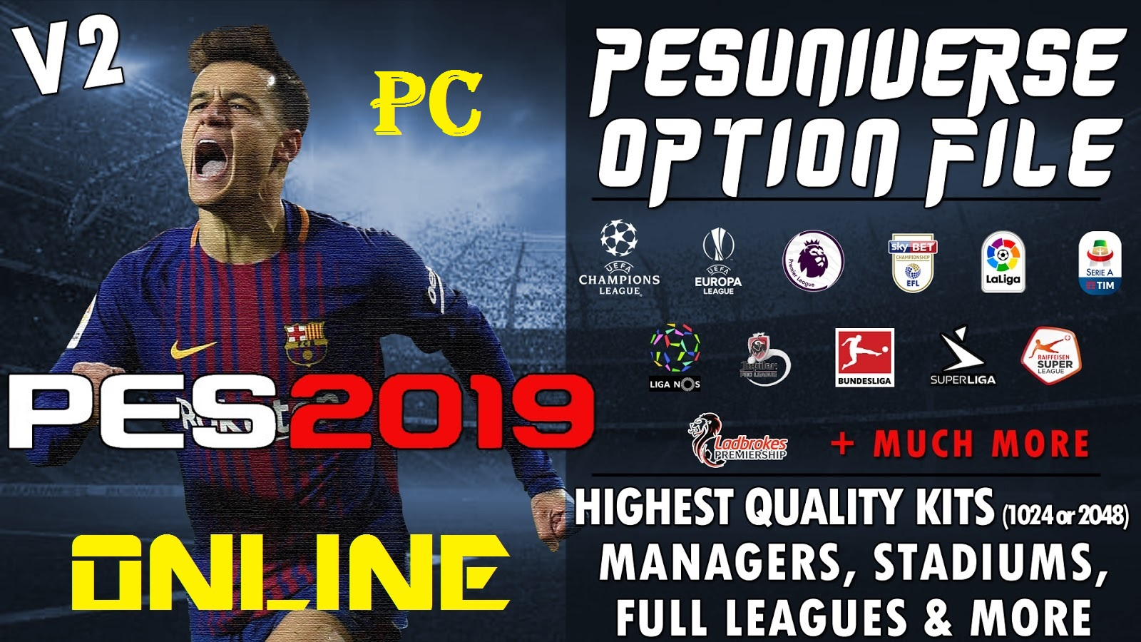 PesUniverse | V2 | Option File | PES2019 | PC | PS4 [26 09 2018