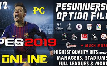 PesUniverse | V2 | Option File | PES2019 | PC | PS4 [26.09.2018]