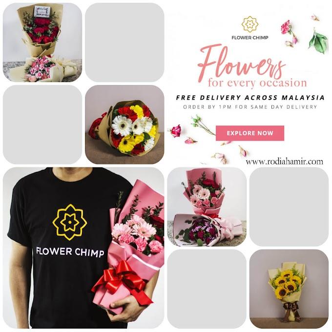 Penghantaran bunga Flower Chimp kejutan untuk yang tersayang
