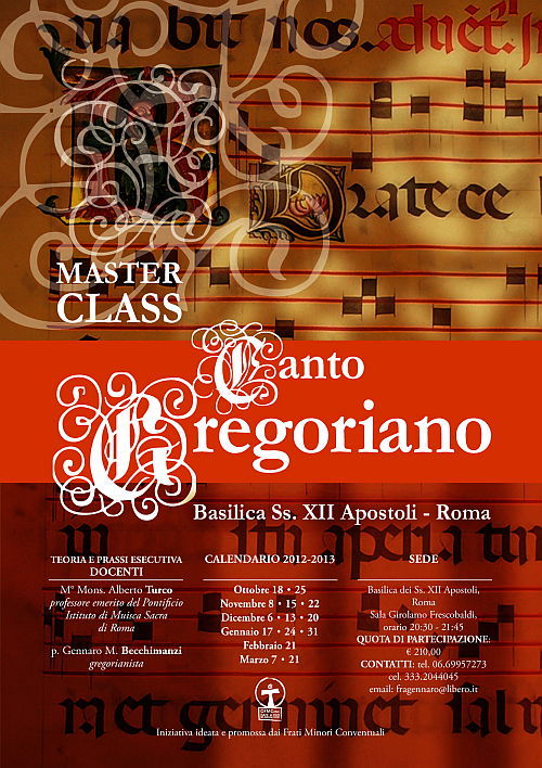 Calendario Gregoriano Santi.Master Class Di Canto Gregoriano A Roma Dai Francescani