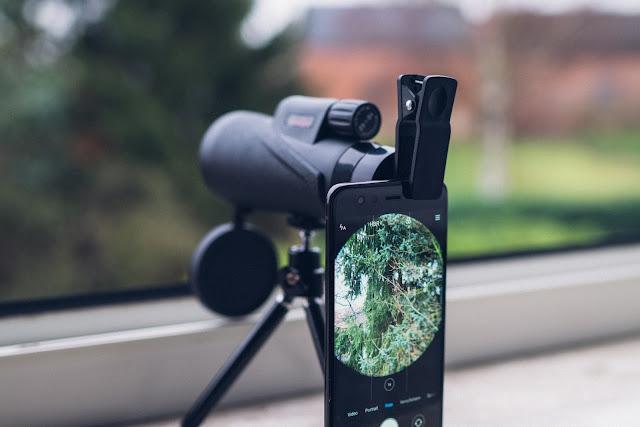 Gear of the Week #GOTW KW 01  MeeQee 10X42 Teleskop mit Smartphone Halterung  Monokular Naturbeobachtung 09