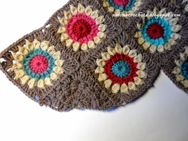how to crochet triangular sunburst