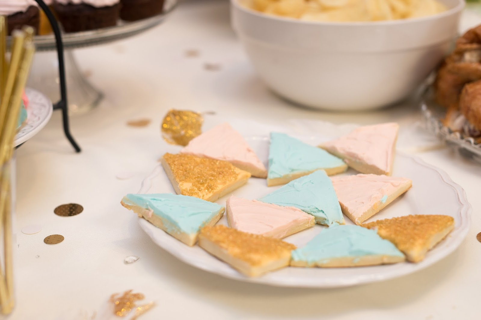 Geometric Cookies, Geometric Baby Shower, Baby Shower Treats