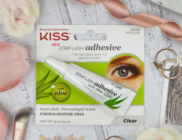 Kiss Strip Lash Adhesive with Aloe Vera Review, Lovelaughslipstick Blog