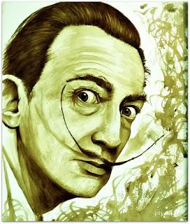 Salvador Dali - Pintura em Café - Luís Paulo, Guaíba